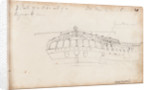 Sketch of the stern of 'Resolution' with notes by Thomas Luny