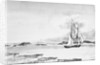 Sketch of the harbour town and amphitheatre of Pola, 7 February 1813 by William Innes Pocock