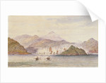 The China War 1857. Two ship's boats firing, going in. Two on right of Island by Thomas Goldsworth Dutton