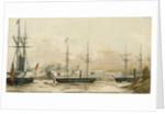 Tiensing, Peiho? River 1858, HMS 'Coromandel' by E.E. Bradford