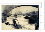 Thames between the Tower and Westminster by William Lionel Wyllie