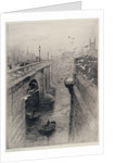 London Bridge and Southwark Cathedral by William Lionel Wyllie