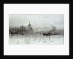 St Paul's and Blackfriars Bridge by William Lionel Wyllie