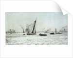 Barges and other craft on the River Thames? by William Lionel Wyllie