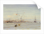 The armed yacht 'Portia' by William Lionel Wyllie