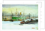 Docks by William Lionel Wyllie