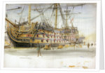 HMS Victory During Her Restoration by William Lionel Wyllie