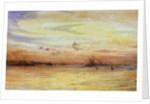 Sunset with the Fleet by William Lionel Wyllie