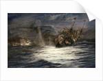 Count von Spee sinking HMS 'Monmouth' by William Lionel Wyllie