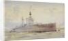 HMS 'Lion' by William Lionel Wyllie