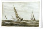 Yachts racing by William Lionel Wyllie