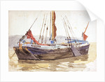 Thames sailing barge by William Lionel Wyllie