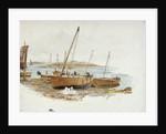 Loch Fyne herring skiffs at Tarbert by William Lionel Wyllie