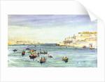 Grand Harbour, Valletta, Malta by William Lionel Wyllie
