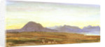 Sunset, Hills, probably Scotland by William Lionel Wyllie