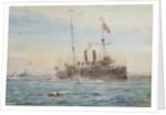 HMS 'Bonaventure' and submarines by William Lionel Wyllie