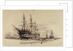 Training ship 'Exmouth' by Wiiliam Lionel Wyllie