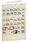 Table of signal flags, both numeral and alphabetical by Charles Copland