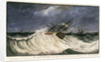 HMS 'St George' in the hurricane of 1805 by Edward Bamfylde Eagles