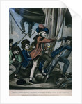 Capt. Paul Jones shooting a sailor who had attempted to strike his colours in an engagement by Robert Sayer & John Bennett