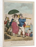Progress of Gallantry, or Stolen kisses sweetest by Thomas Rowlandson