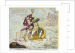 A French Hail Storm, - or - Neptune losing sight of the Brest Fleet by James Gillray