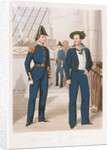 Uniforms of the Royal Navy no 6: Clerk, Second Master and A.B. Seaman by unknown