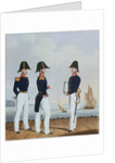 Costume of the Royal Navy & Marines. Pursers & Captain's Clerk by L. Mansion