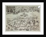 Disposition of the Turkish and Venetian fleets at Cyprus, 1570 by Matthias Zundt