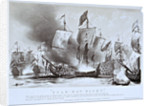 The burning of HMS 'Royal James' at the Battle of Solebay, 28 May 1672 by William Parrott