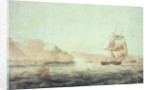 French batteries firing at the brig 'Childers' off Brest 1793 by unknown