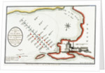 Plan of the commencement of the action between the British & French fleets in the Bay of Bokkier, otherwise Abouker, Bequieres & Bay of Shoals, in the Mouth of the Nile, 1 August 1798 by J. Luffman