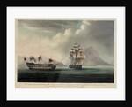 HMS 'Bellisle' near Gibraltar,  24 October 1805 by G. Andrews
