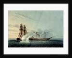The Turkish frigate 'Badere Zaffer' striking to HMS 'Seahorse' by Robert Pollard
