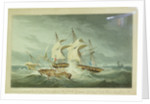 Destruction of the 'La Mouch' by HMS 'Hermes', 14 September 1811 by Philip Brown