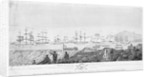 Plan of the attack upon the Boulogne flotilla, by the frigate 'Naiad', 21 September 1811 by I. Ryland
