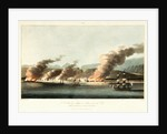 No. 10 'A view of Linga or Lung, from the sea, during the destruction of dhows on 16 November 1809' by R. Temple