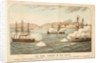 The naval combat in the Pacific, between HMS 'Shah' and 'Amethyst' and the Peruvian Rebel, Ironclad Turret Ram Huascar off Ilo, 29 May 1877 by H.M. Currie & Son