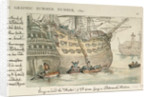 Going on board the Hector of 74 guns, lying in Portsmouth Harbour by Thomas Rowlandson