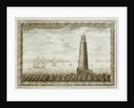 Eddystone Lighthouse with shipping beyond by C. Lempriere
