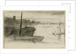 Chelsea Bridge and Church by James Abbott McNeill Whistler