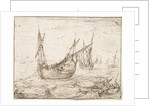 A herring buss catching a large fish by Hendrick Cornelisz Vroom
