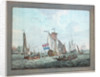 An East India Company's Yacht in a Dutch Harbour, pre-1826 by Gerrit Groenewegen