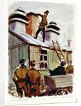 German chimney sweep at Marlag 'O' prisoner-of-war camp by John Worsley