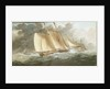 A schooner close-hauled in a strong breeze by Charles Gore