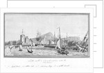 Port of Leith with a smack sailing into the harbour by J.T. Serres