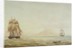 View of St Eustatius with the 'Boreas' (1784) by Nicholas Pocock