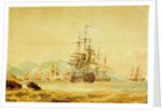 The 'Agamemnon' cuts out French vessels from Port Maurice, near Oneglia, 1 June 1796 by Nicolas Pocock