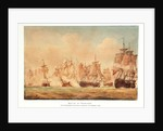 The Battle of Trafalgar, 21 October 1805; The 'Victory' cutting through the French line by Nicholas Pocock