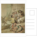 The Miseries of London....being assailed by a group of watermen.... by Thomas Rowlandson